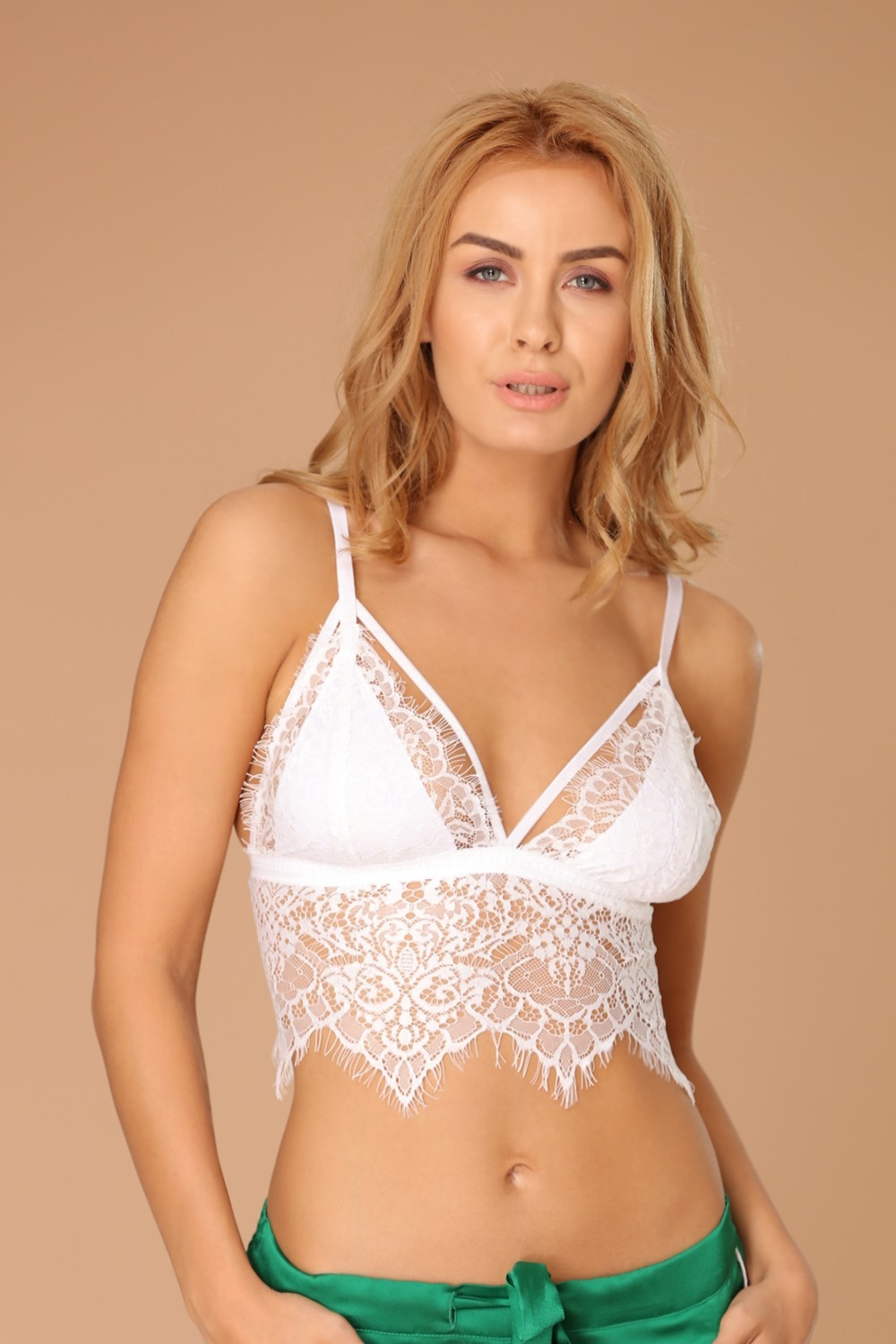 Bustiera Karis White Lace