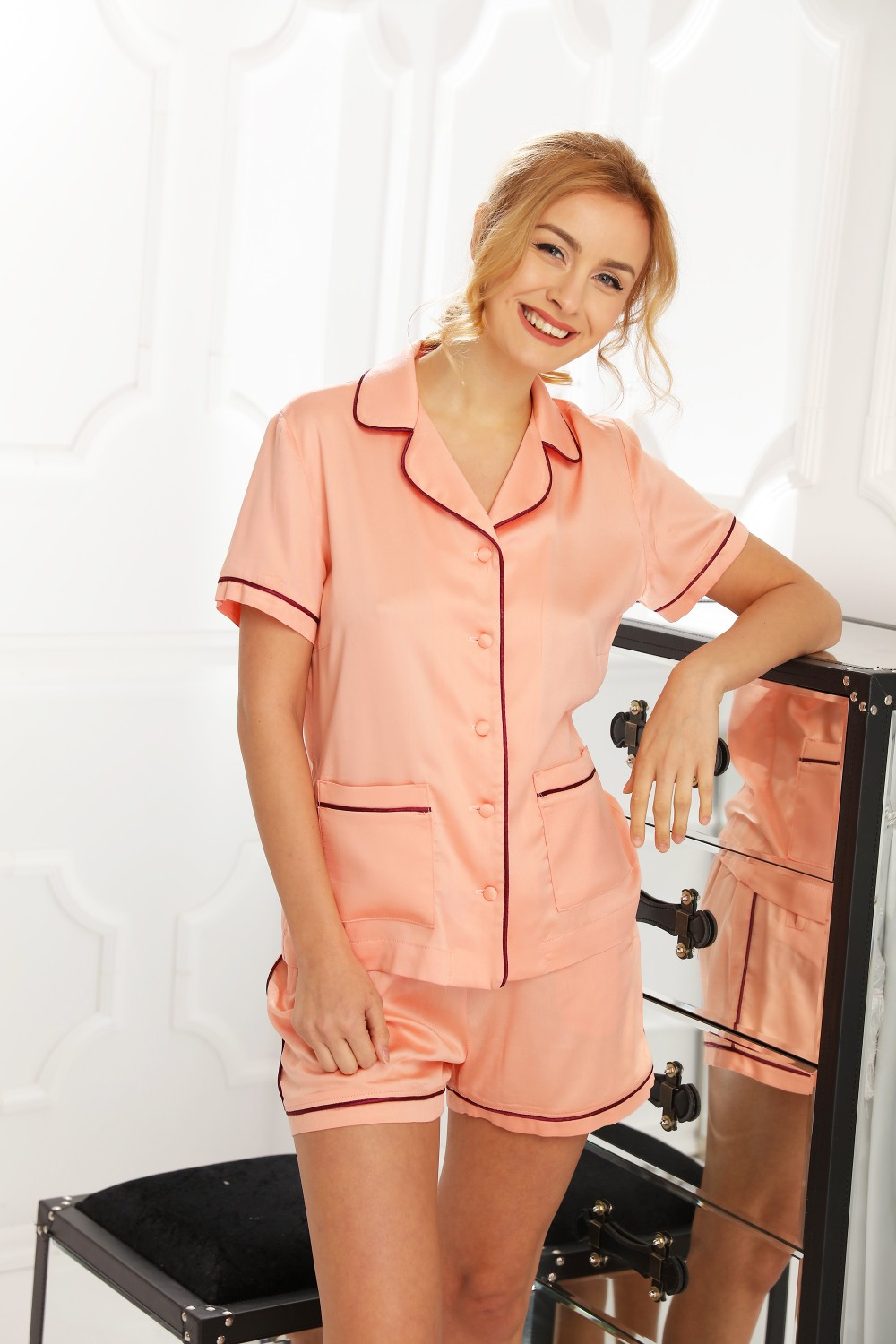 Pijamale Dama Perla Peach